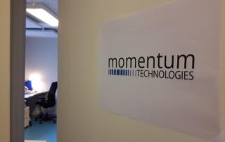 Momentum Office sign