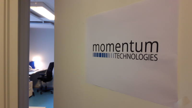 Momentum Office sign